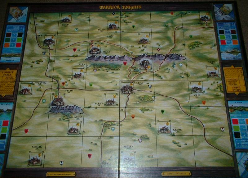 Warrior Knights Game Board