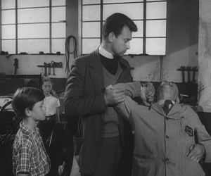 Hands off the boy matey - the Vicar deals with the bully mechanic