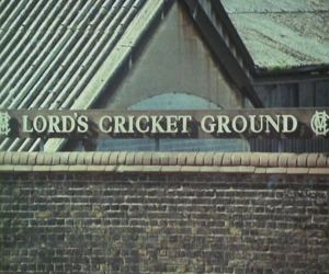 The ball makes its way to Lord's cricket ground