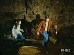 Nicky and Jonathon enter the mine
