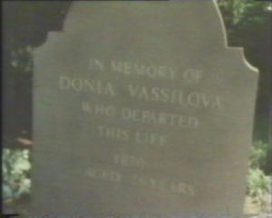 The grave stone of madame Vassilova