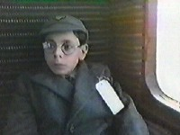Tolly on the train