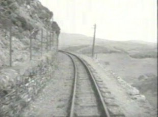 The railway track at which the film begins.