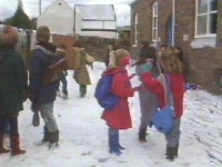 Back at school it has been snowing