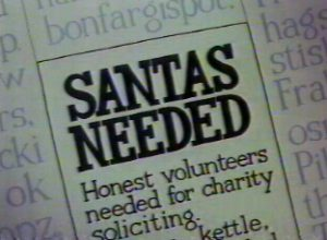 Charity Santas are needed